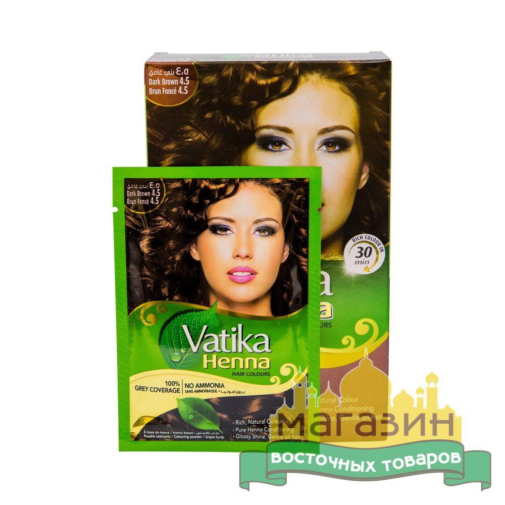 Хна для волос Темно-коричневая Vatika