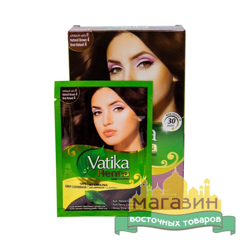 Хна для волос Коричневая Vatika