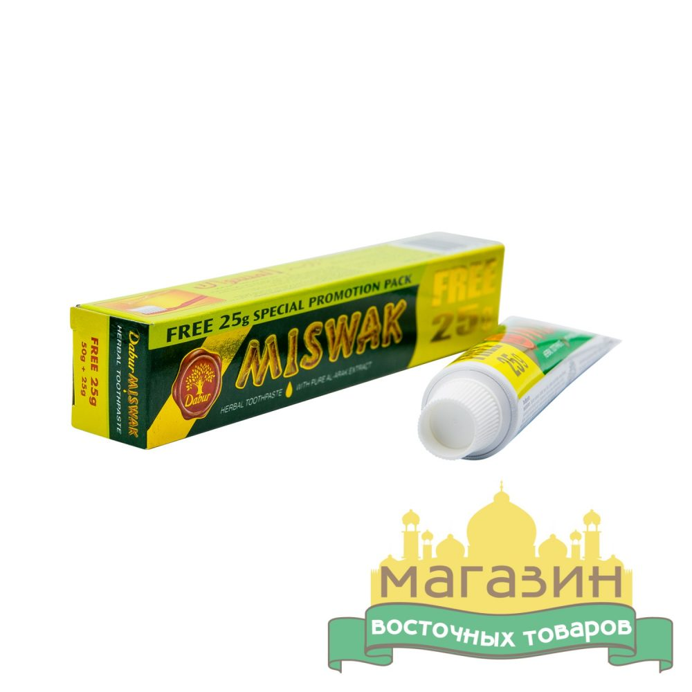 Зубная паста Мисвак Miswak, Dabur (75 г)