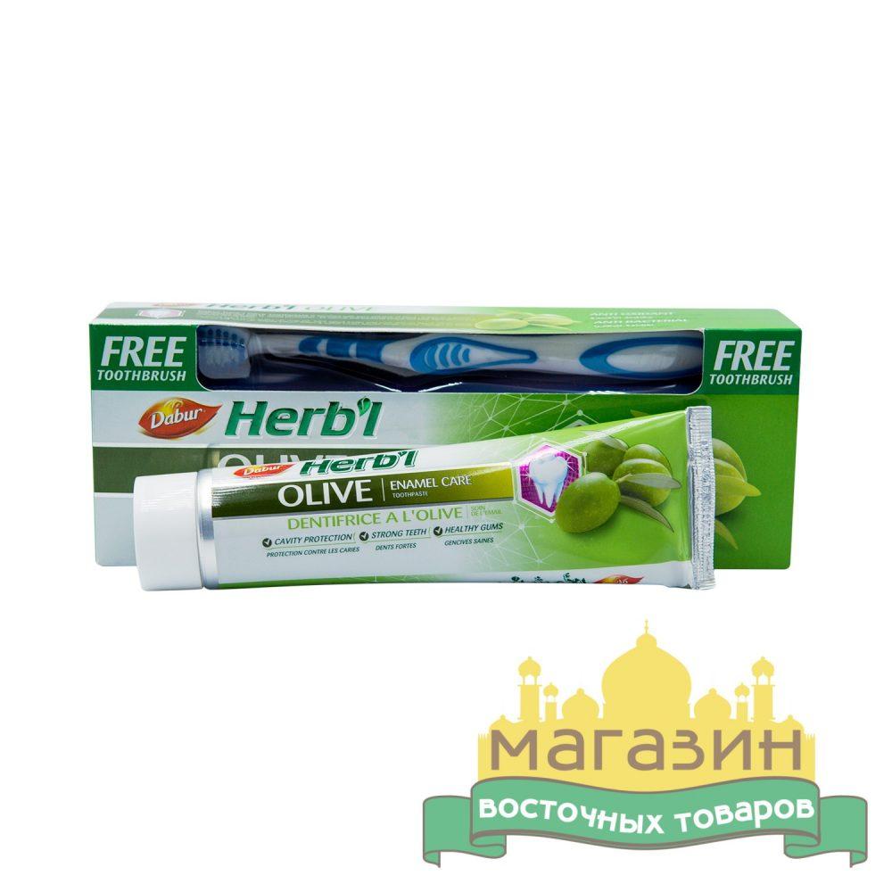 Зубная паста Дабур с экстрактом оливы Dabur Herb'l Olive (150 г)