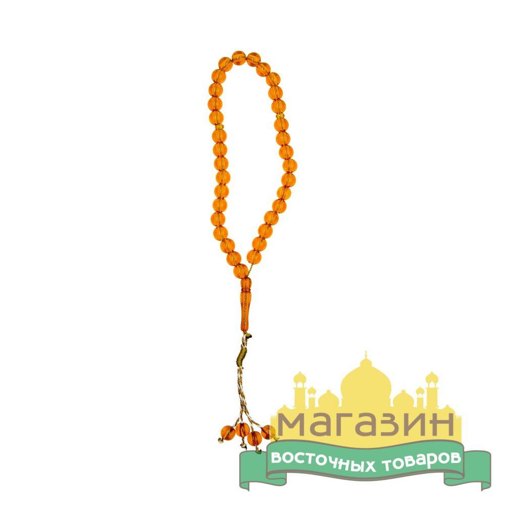 Четки-тасбих 33 бусины (оранжевые)