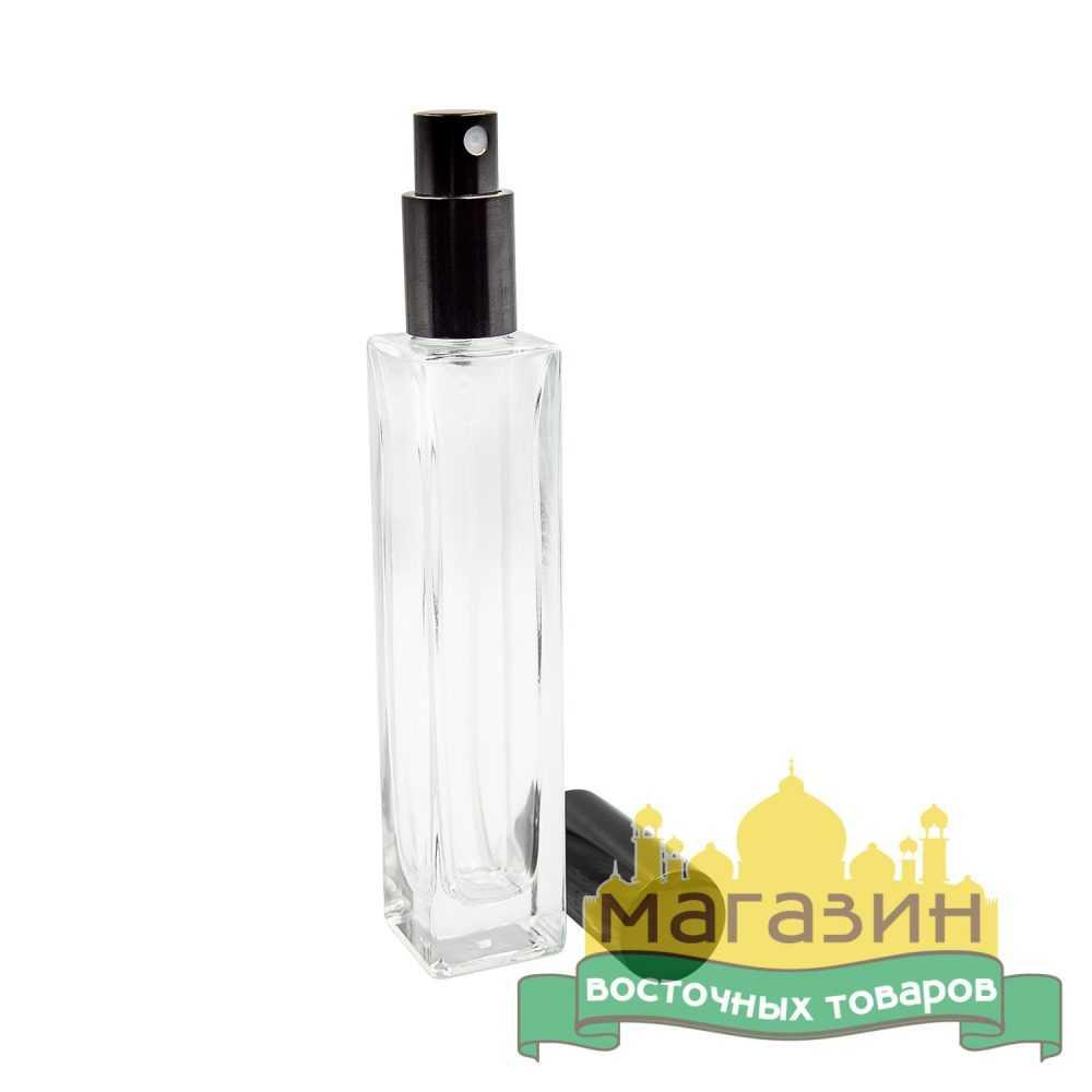 Бутылочка для парфюма стеклянная (50мл) черная