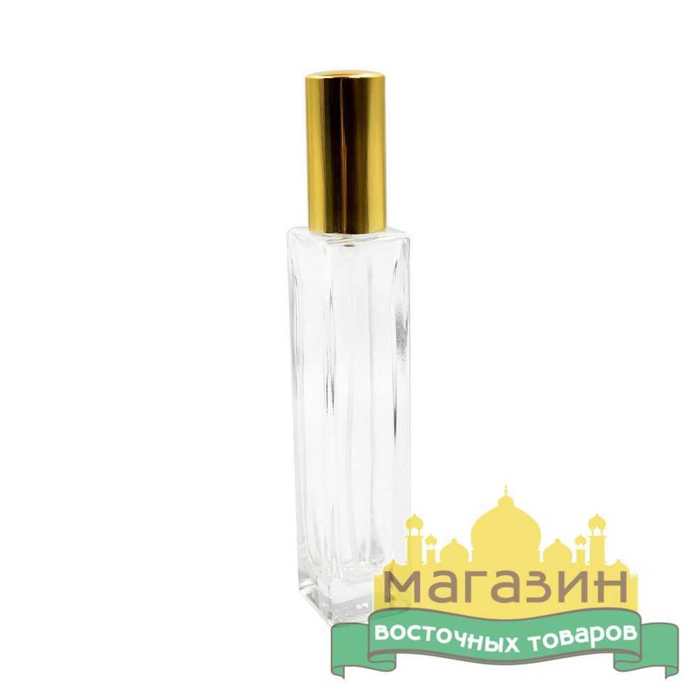 Бутылочка для духов стеклянная (50мл) золото