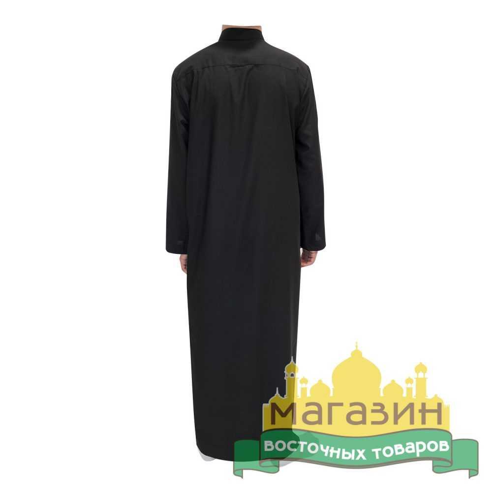 Джалабия для молитвы (чёрная) рубаха